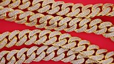 30 Carats Diamond 400 Grams Solid Yellow Gold Miami Cuban Link Chain 15 MM VIDEO