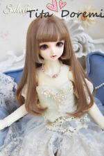 "BJD Doll Wig 8-9"" SD MSD MDD 6-7"" YOSD BB Gold Brown Hair"