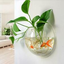 Wall Mounted Fish Tank Bowl Bubble Hanging Terrarium Goldfish Betta Aquarium Pot