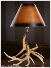 NEW WHITETAIL DEER ANTLER ANTLERS TABLE LAMP LIGHT- RUSTIC DECOR -MADE IN USA