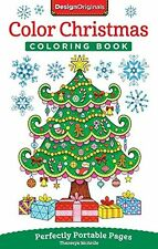 Coloring Book For Adults Christmas Tree Santa Holiday Theme Relaxing Anti Stress