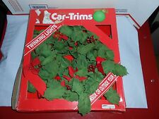 "Rare Vtg 1990 Gemmy Christmas Car-Trims 12"" Twinkling Lights Wreath Car Decor"