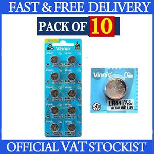 10x L1154 LR44 Batteries Vinnic Alkaline 1.55V AG13 357 G13 L1154F A76 Coin Cell