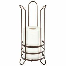mDesign Metal Toilet Paper Holder Stand - Storage for 3 Rolls - Bronze