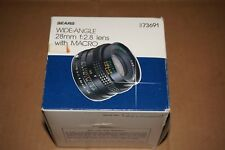 SEARS WIDE-ANGLE 28MM F2.8 LENS WITH MACRO FOR MINOLTA MD CAMERA