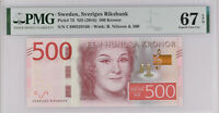 Sweden 500 Kronor ND 2016 P 73 Superb Gem UNC PMG 67 EPQ High