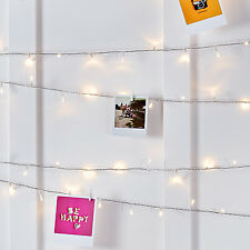200 Warm White LED Indoor Bedroom Xmas Fairy String Lights on 16m Clear Cable