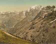 Tyrol, Ortler Gruppe  Photochrome original d'époque, Vintage photochrom, P.