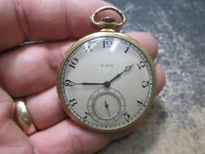 ELGIN FANCY GOLD FILLED CASE DRESS MENS RUNNING Pocket Watch