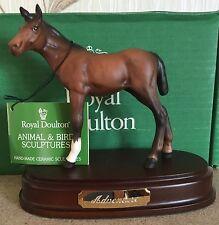 ROYAL DOULTON HORSE FOAL ADVENTURE ON PLINTH MODEL No DA 72B BROWN MATT BOXED