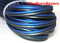 12 Gauge 30' ft SPEAKER WIRE Blue Black Premium HQ Car Audio Home Stereo Cable