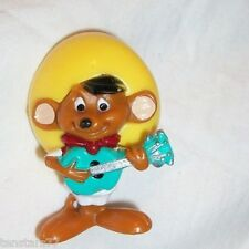 SPEEDY GONZALES Playing GUITAR PVC Cake Topper Plastic Toy Mexican MOUSE WB 2002