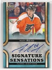Matt Read 13-14 Upper Deck 1 UD Signature Sensations Autograph Signature