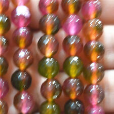 """Beautiful 8mm Multicolor faceted Tourmaline Round Loose Beads 15"""" AAA"""