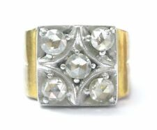 Fine Vintage Rose Cut Diamond Yellow Gold 5-Stone Ring 1.00Ct