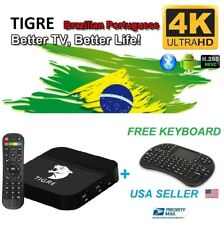 NEW TIGRE TV Box Well as HTV5 brazil live tv iptv&Portuguese drama/shows/movies