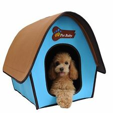 Pet Dog Bed House Kennel Mat Pad Warm Washable Puppy Zipper Locked