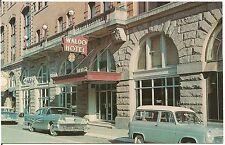 Entrance to the Waldo Hotel in Clarksburg WV Postcard