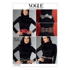 Vogue craft sewing pattern accessoires ceintures V9222