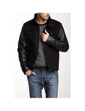 Levi's Men's Mixed Media Stand Collar Jacket Outerwear Coat Parka - NEW A