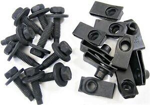 """Jeep Body Bolts & U-nuts- 5/16-18 x 1-3/16"""" Long- 1/2"""" Hex- 20 pcs (10ea)- #374"""