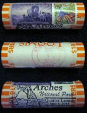 ONE 2014 D ARCHES NP CEREMONY DOUBLE CANCELLED QUARTER ROLL