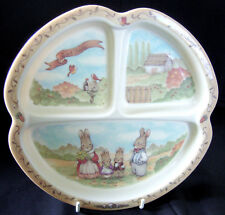 "Peco Melamine Ware Bunnies Rabbits ""Sweet Family"" Divided Dish Child, 8-1/4"""
