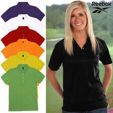 Reebok Women's 100% Cotton Polo Sport Shirt 4 Button Back to School Work Uniform
