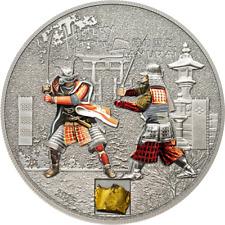 Cook Islands 2015 5$ History of the Samurai 1 Oz Silver Antique Coin