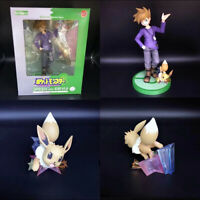 Gift Collection Animation Gary Oak & Eevee Action Model Pokemon 8'' New In Box