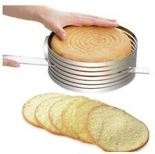 anello da forno con pala per torta taglia torta gadget da cucina tappetino in silicone set di 10 stampo da forno KYONANO Grande Stampo per Affettare Torta Diametro 23-30 cm