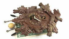 VINTAGE LUX CUCKOO CLOCK ORNAMENTAL BIRD DECO WIND UP KEY OLD MOVEMENT STEAMPUNK