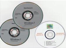 Windows 7 Professional 32bit 64bit full version DVDs, + FREE DRIVER CD, NO KEY