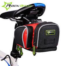 RockBros Cycling Saddle Seat Bag Road Bike MTB Fixed Gear Fixie Black Red