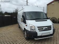 To Fit 07 - 14 Ford Transit MK7 Front Spoiler Bumper Bar Chin Nudge + LEDs
