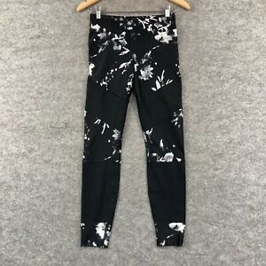Running Bare Womens Leggings Size 12 Black White Stretch Fitted 7/8 316.18