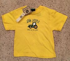 John Deere T-Shirt, 24M, NEW w/Tags, Yellow, Nothing Runs Like A Deere, Licensed