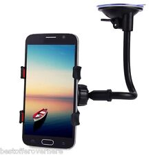 360 Degrees Rotation Car Windshield Holder Mount Bracket Stand Cell Phones Black
