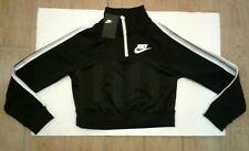 Nike Women's Long Sleeve Half Zipper Top AR2270-010 Black/Summit White Size XS