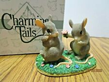 """Charming Tails """"I'm So Sorry"""" Gray Mice Couple Figurine"""