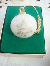 LENOX  1988 CHRISTMAS BALL ORNAMENT- NEW IN ORIGINAL BOX, excellent condition