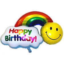 36'' Kids Party Decoration - Smile / Happy Birthday - Rainbow Foil Balloon