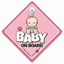Baby On Board Sign CUTE BABY GIRL, Baby On Board Sign, Suction Cup Sign