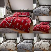 Teddy Fleece Murray Stag Luxury Duvet Cover Set Cosy Warm Soft Bedding Sets