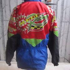 Medd Racing Team Scott Leathers Vintage Retro 90s Motorbike Jacket Multicolour S
