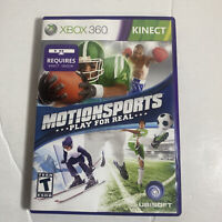 MotionSports: Play For Real Xbox 360 Game For Kids Kinect *Complete*Tested*