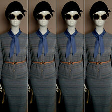 Vintage 1960's Blue Two Piece Suit by FULTON LONDON. Size 12.