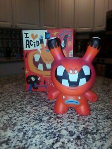 """Kidrobot Tim Biskup Acid Head 8"""" Dunny Limited Edition Vinyl Art Toy"""