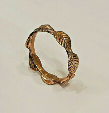 14 KT SOLID ROSE GOLD SEVEN LEAFS RING  SIZE 9