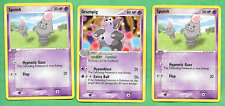 Pokemon EX Deoxys SET SPOINK - 76/107 (2) AND Grumpig 32/107 Great SHAPE!!